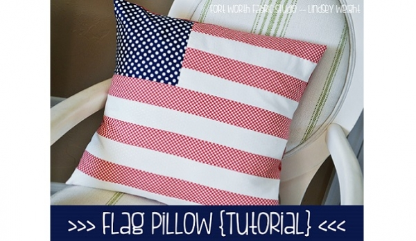 Tutorial: American flag pillow cover