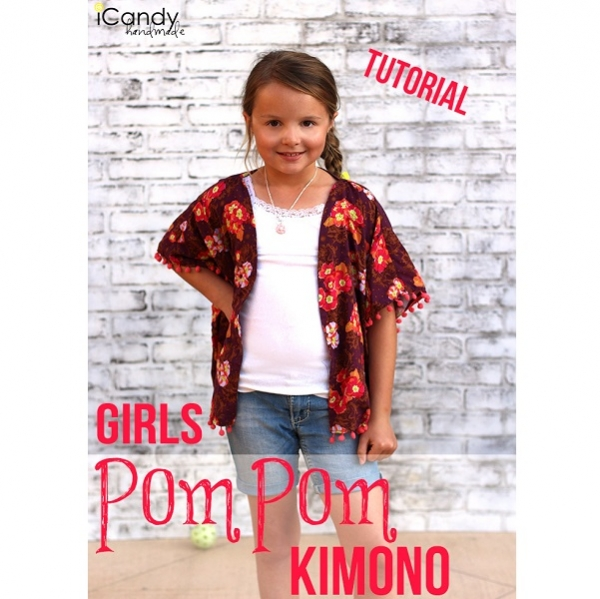 Tutorial: Sew a girls pom pom kimono