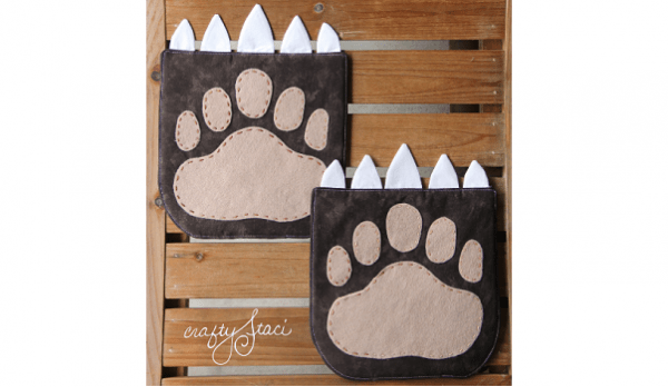 Free pattern: Bear claw hot pad