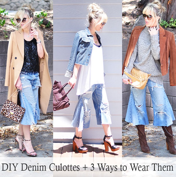 Tutorial: Turn jeans into culottes, plus 3 styling tips for wearing them