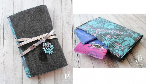 Tutorial: Notebook cover with a secret pocket for period supplies