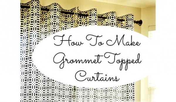 Tutorial: Easy grommet top curtains