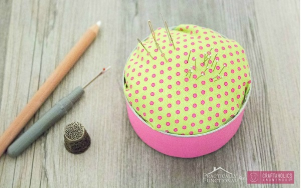 Tutorial: Tin can pincushion