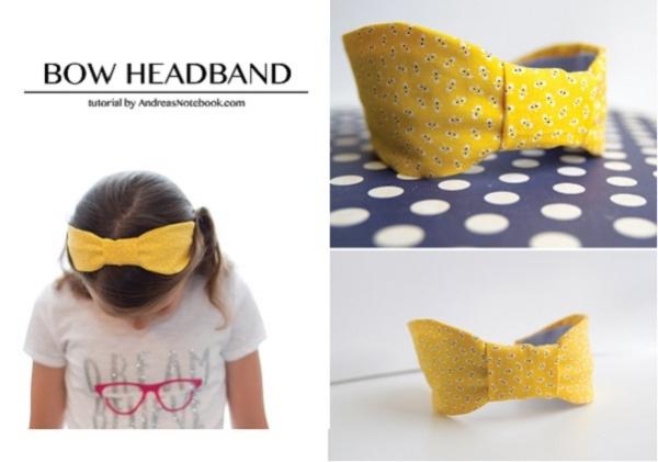 Tutorial: Flat bow headband