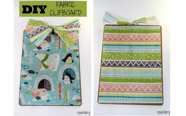 Tutorial: Fabric covered clipboard