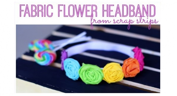 DIY tutorial: Rolled fabric flower headband