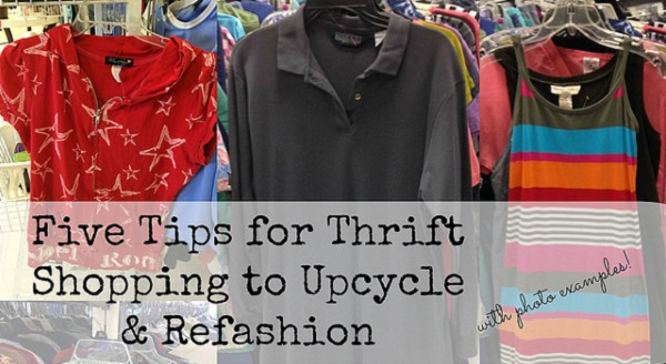 5 tips for finding refashion-able items at the thrift store