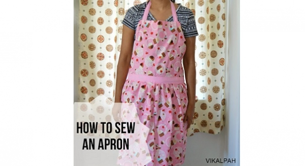 Tutorial: Simple apron with a gathered skirt