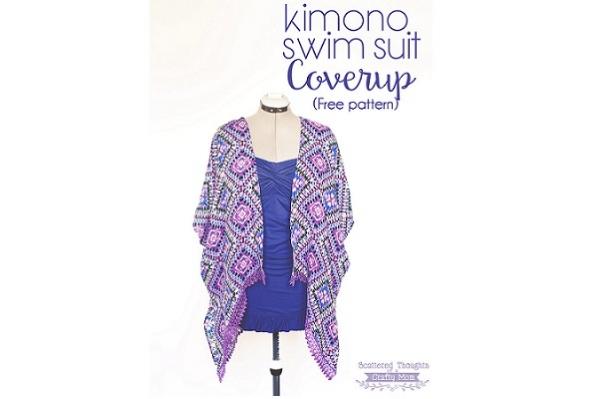 Free patter: Kimono swim cover-up