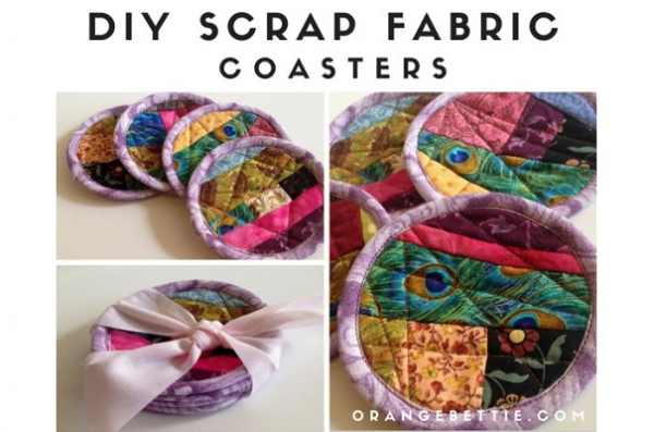Tutorial: Scrapbusting quilted fabric coasters