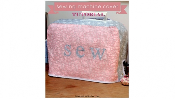 Tutorial: Simple but cute sewing machine cover