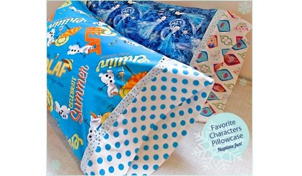 Tutorial: Make cute pillowcases quick using the burrito method