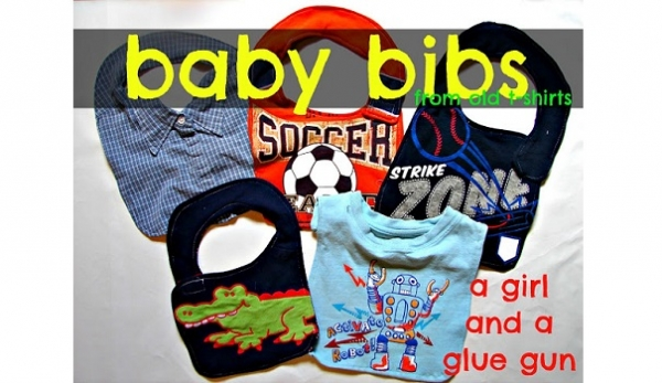 Tutorial: Recycled t-shirt baby bibs