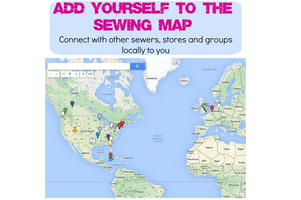 Use this interactive map to find sewing friends in your area