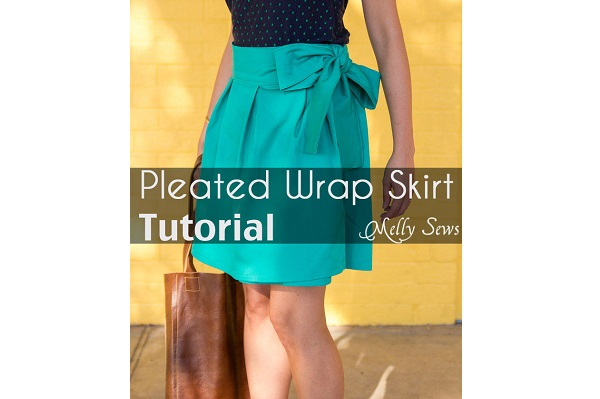Tutorial: Pleated wrap skirt tied in a bow