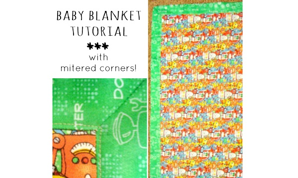 Tutorial: 30-minute baby blanket with mitered corners