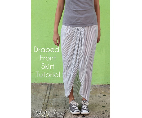 Tutorial: Draped wrap skirt