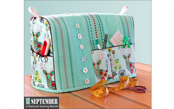 Tutorial: Sewing machine cover with decorative stitching and pull ...