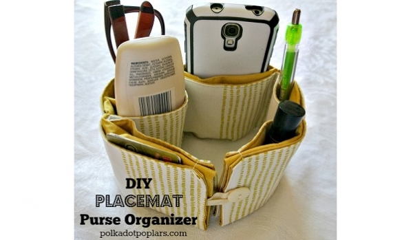 Tutorial: Purse organizer from a placemat