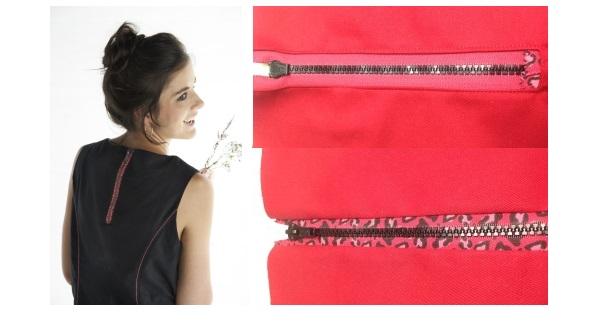Tutorial: Exposed zippers, 2 ways