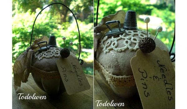 Tutorial: Vintage jelly form or tart tin pincushion