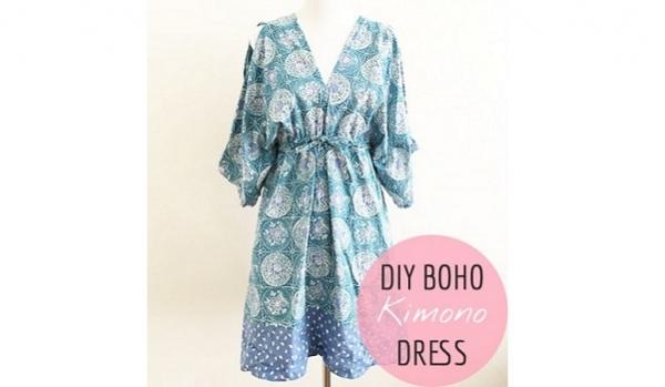 Tutorial: Boho kimono dress