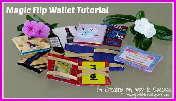 Tutorial: How to make a magic flip wallet