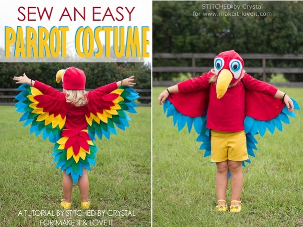 Tutorial: Easy parrot costume