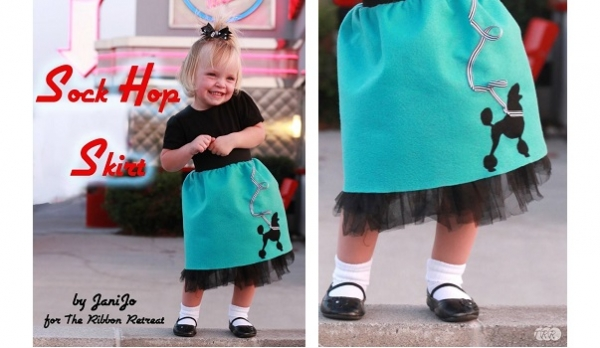 Tutorial: Sock Hop poodle skirt for little girls