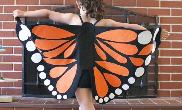Tutorial: Felt monarch butterfly wings costume
