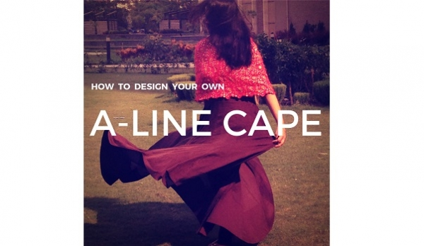 Tutorial: How to make an A-line capelet