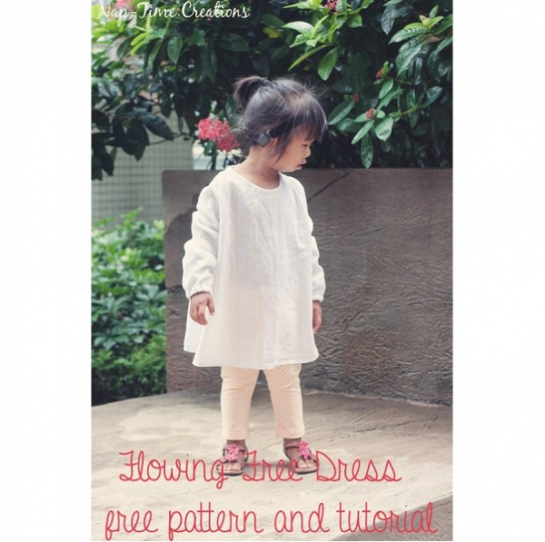 Free pattern: Flowing Free Toddler Dress