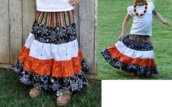 Tutorial: Little girl's tiered maxi skirt