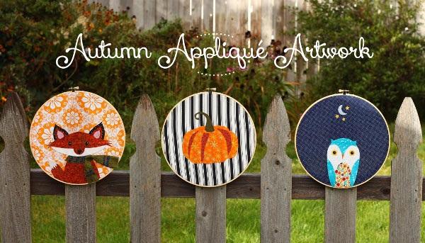 Free pattern: 3 adorable autumn applique designs