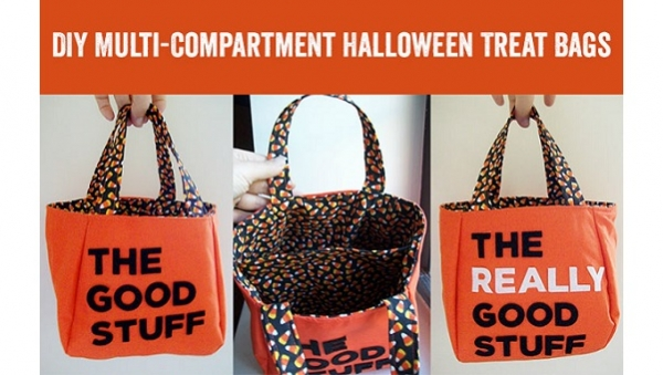 Tutorial: Trick or treat bag with two compartments
