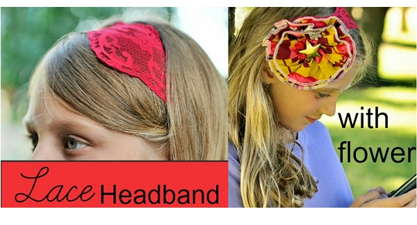 Tutorial: Pretty lace headband