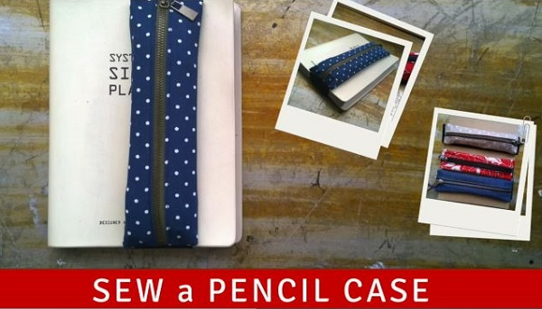 Tutorial: Zippered pencil pouch on an elastic book wrap