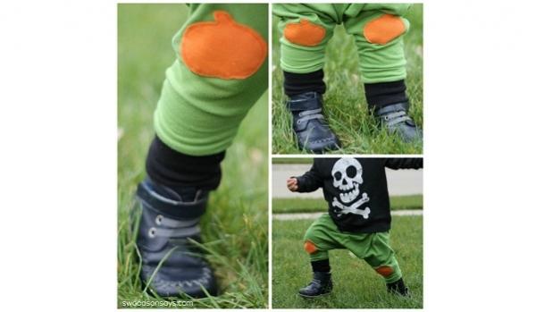 Free pattern: Pumpkin applique knee patch