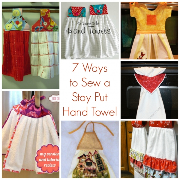 7 Ways To Sew A Stay Put Hand Towel Sewing