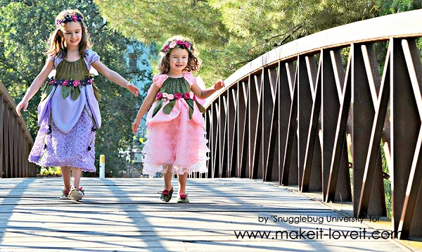 Tutorial: Woodland fairy costume for a little girl