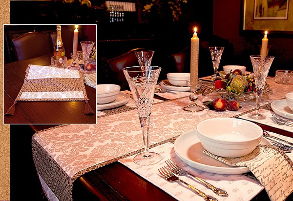 Tutorial: Table runner with corner tassels