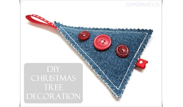 Tutorial: Scrap denim Christmas tree decorations