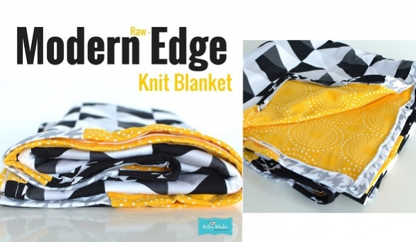 Tutorial: Modern raw edge knit blanket