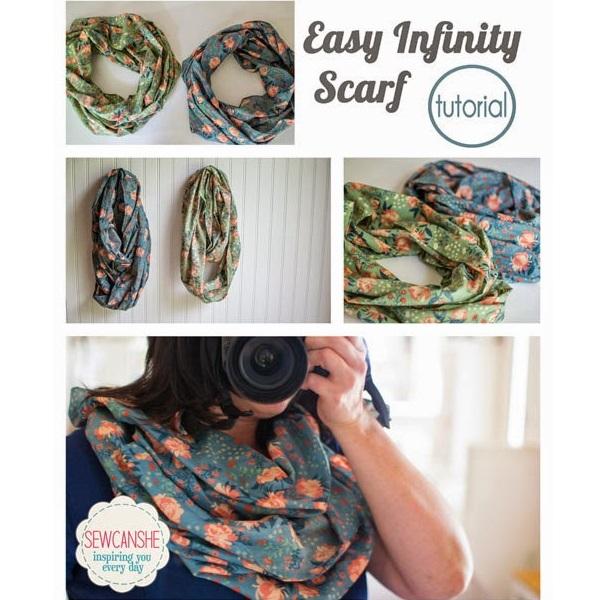 Tutorial: Easy infinity scarf