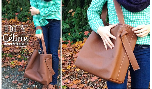 Tutorial: Boxy tote in faux leather