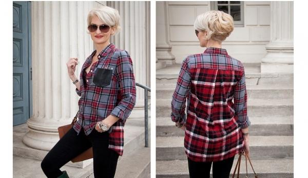Tutorial: Mixed and matched plaid shirt mash-up