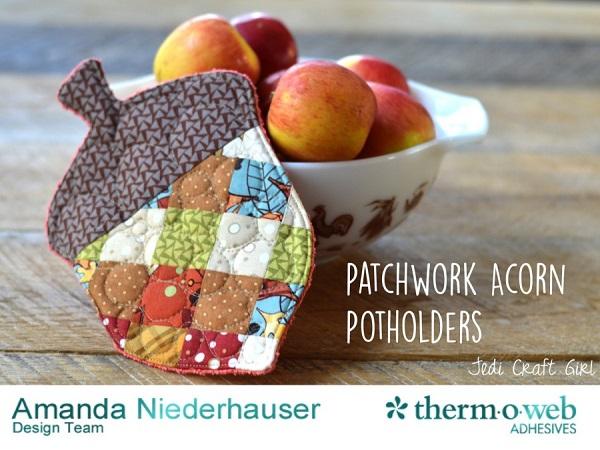 Tutorial: Patchwork acorn potholder