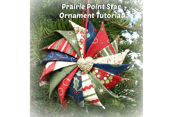Tutorial: Prairie point star Christmas ornament Sewing