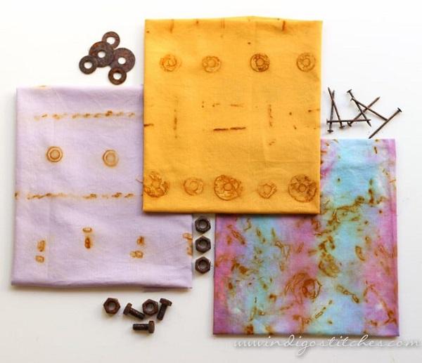 Tutorial: Rust printing on fabric