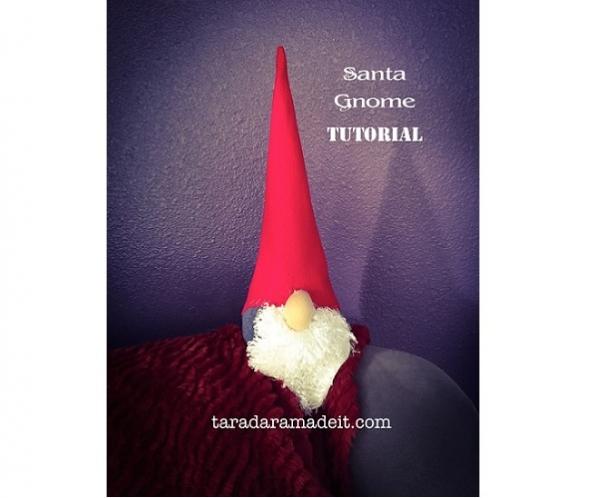 Tutorial Santa Gnome Softie Sewing